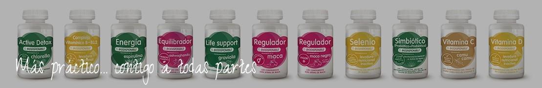 Venta de comprimidos o pastillas de maca, spirulina, chlorella, graviola, camu camu, levadura, ashwagandha...