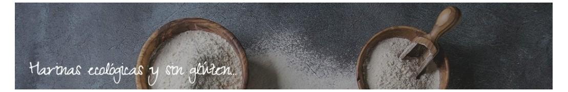 Harinas ecológicas panificables de rápida y fácil preparación. Sin gluten.